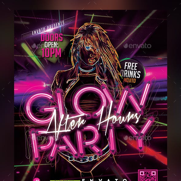 Glow Party - After Hours Flyer Template