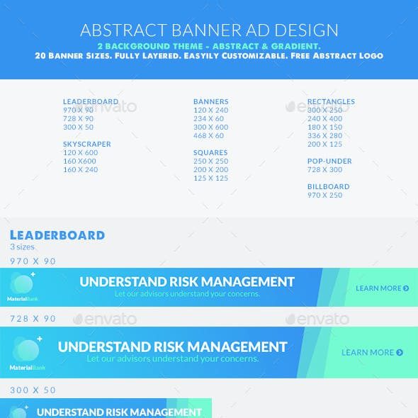 Clean Abstract Web Banner Set