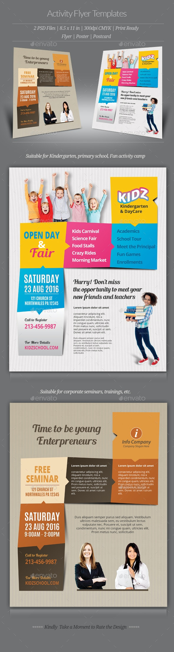 Activity Flyer Templates - Flyers Print Templates