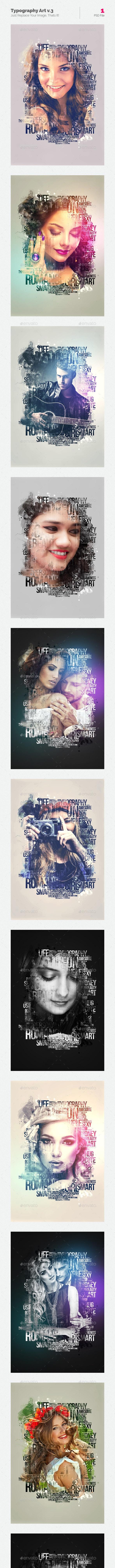 Typography Art v.3 - Artistic Photo Templates