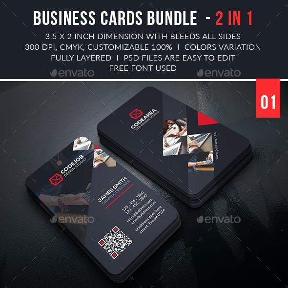 Corporate Business Cards Bundle