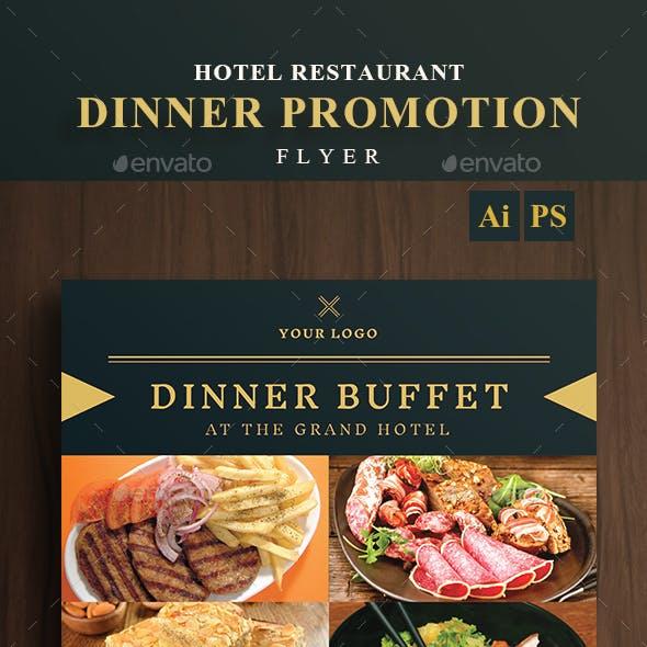 Hotel Restaurant Dinner Promotion Flyer