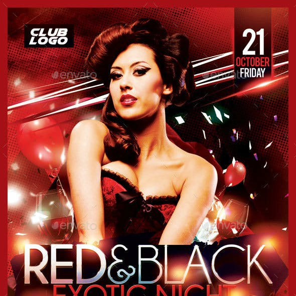 Red&Black Exotic Night Flyer