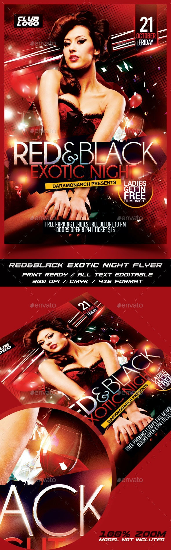 Red&Black Exotic Night Flyer - Events Flyers