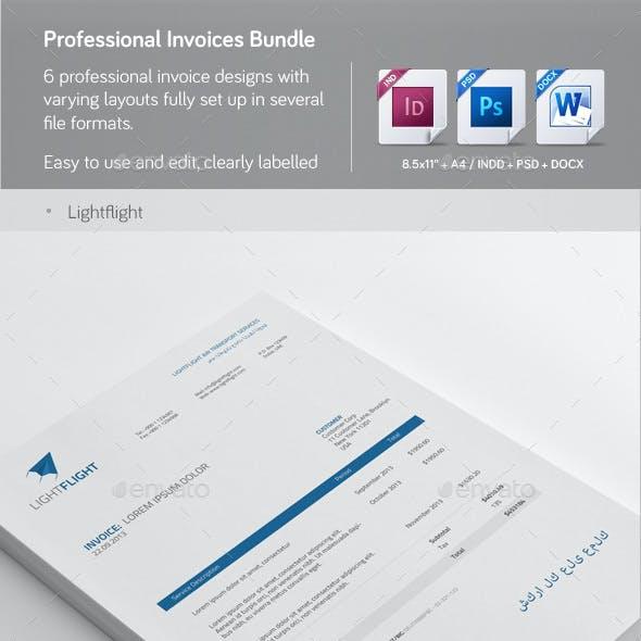 Professional Invoice Templates Bundle 1