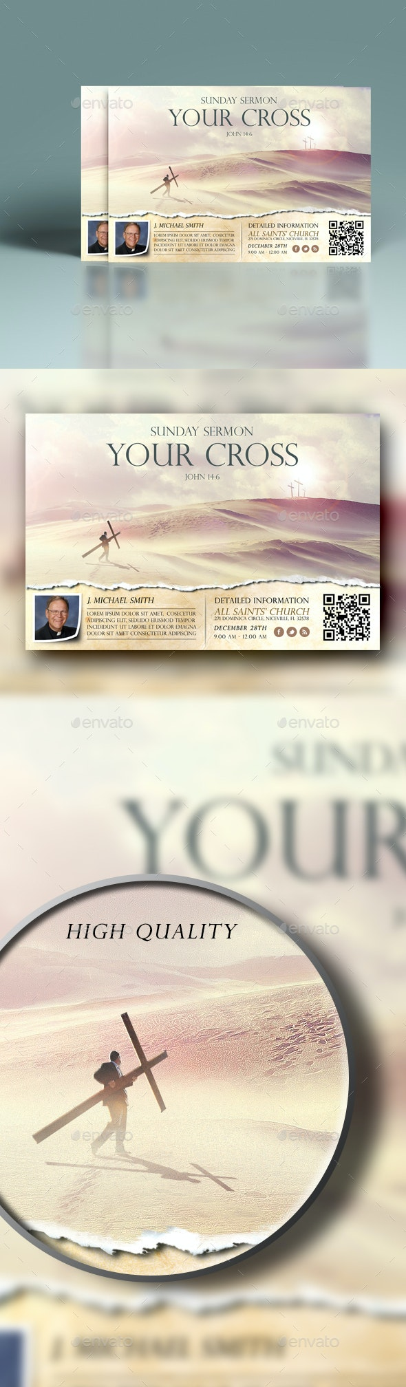 Your Cross Church Flyer - Church Flyers