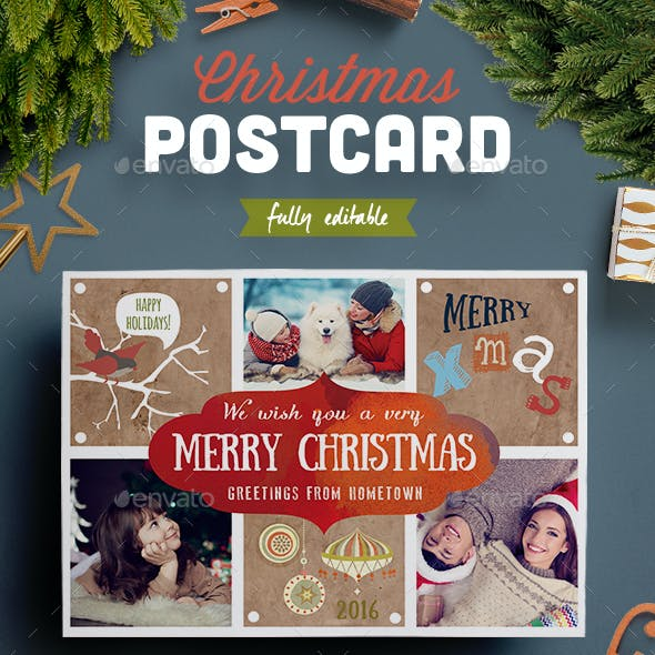 Lovely Christmas Photo Postcard