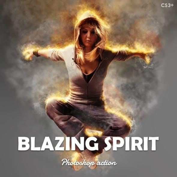 Blazing Spirit - Fire Photoshop Action v1.01