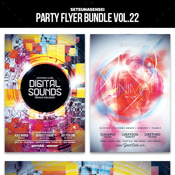Party Flyer Bundle Vol. 22