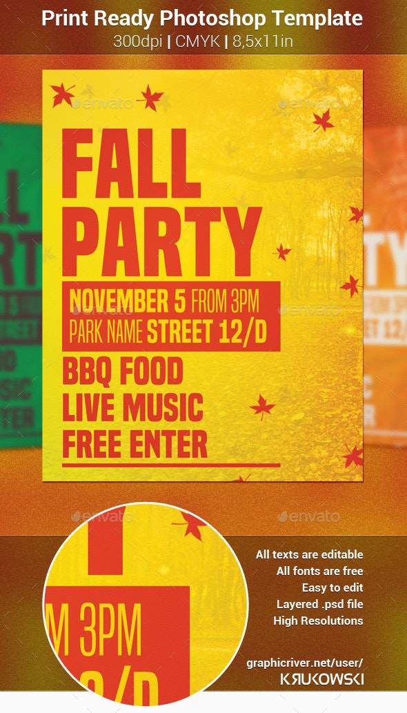 Fall Party Flyer - Holidays Events