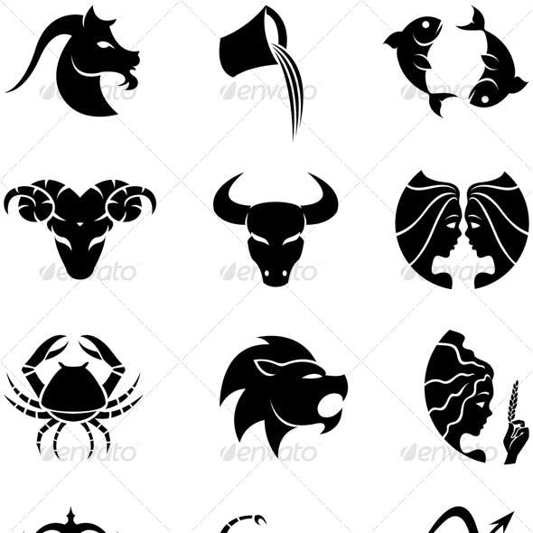 zodiac silhouettes