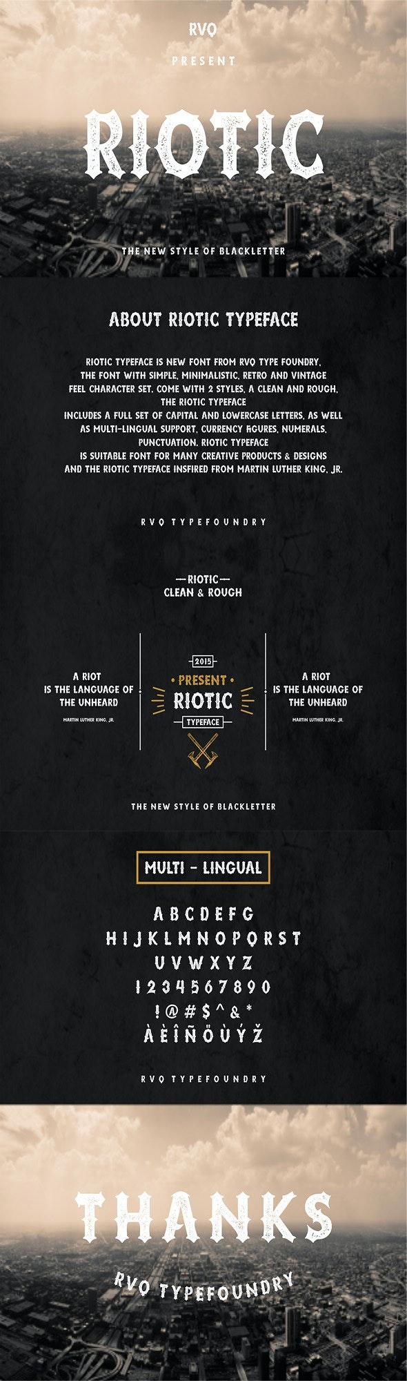 Riotic Typeface - Gothic Decorative