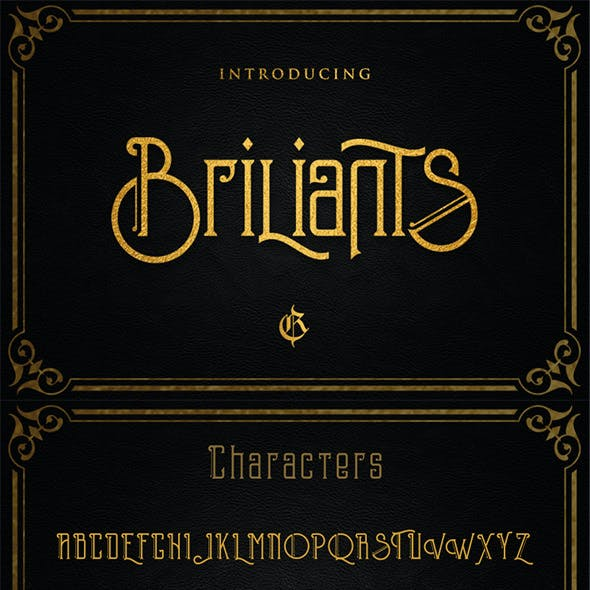 Briliants typeface