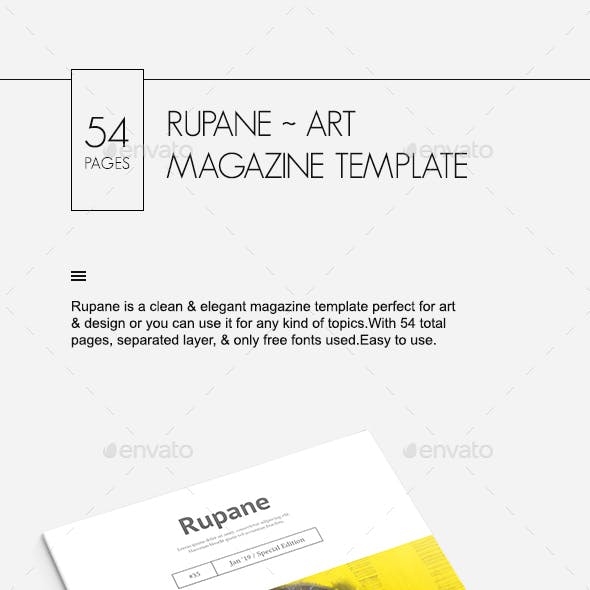 Rupane Art Magazine Template