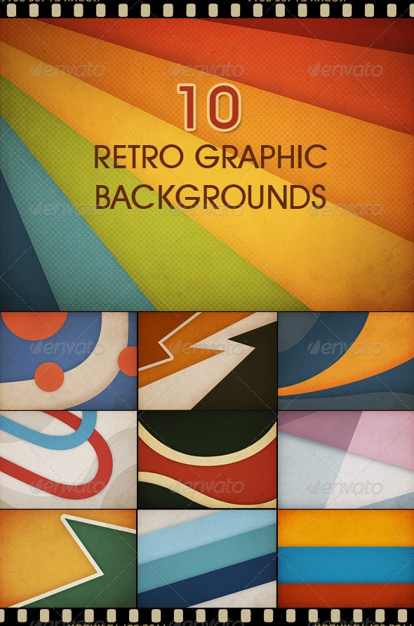 10 Retro Graphic Backgrounds - Backgrounds Graphics