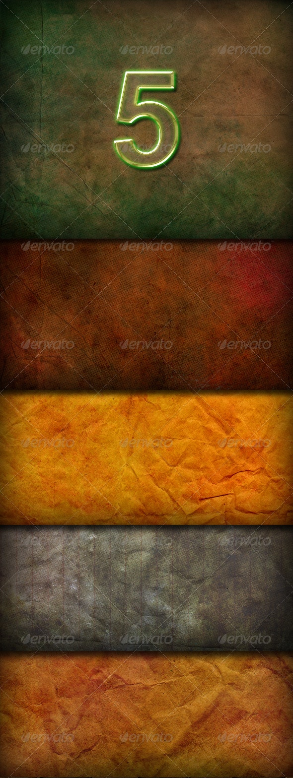 5 Hi-res Paper Textured Backgrounds - Backgrounds Graphics