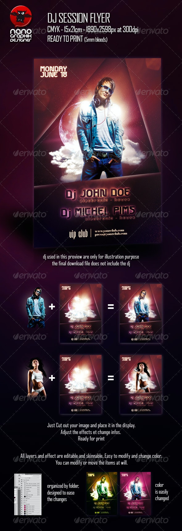 DJ Session Flyer - Clubs & Parties Events