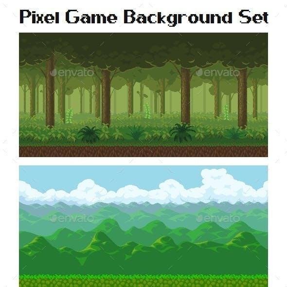 Pixel Game Background Set
