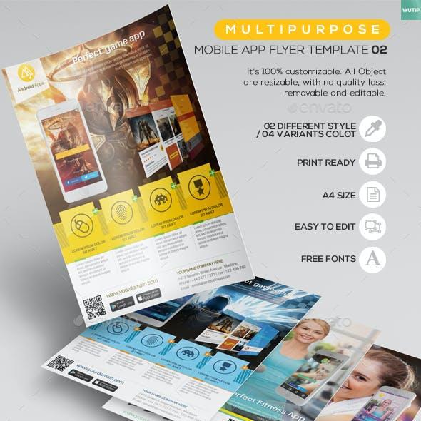 Multipurpose - Mobile App Flyer Template 02