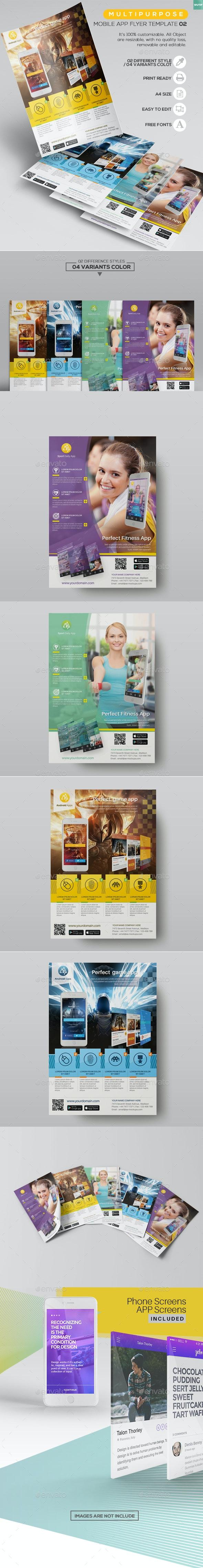 Multipurpose - Mobile App Flyer Template 02 - Commerce Flyers