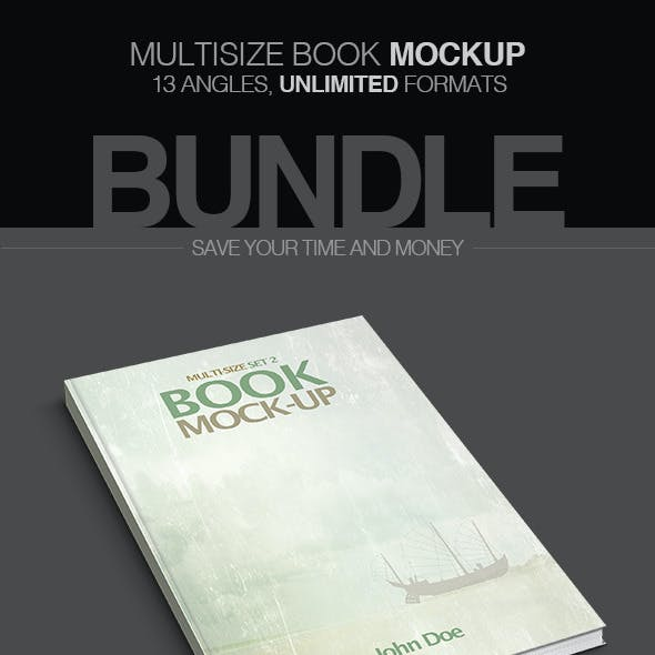 Multisize Book Mockup - Bundle