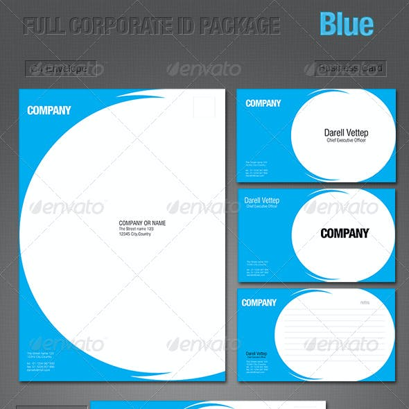 FULL CORPORATE ID PACKAGE - BLUE