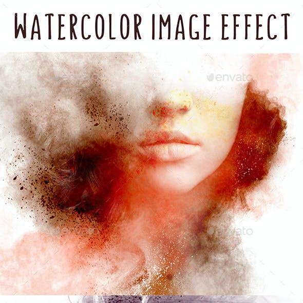 Splash Watercolor Image Effect