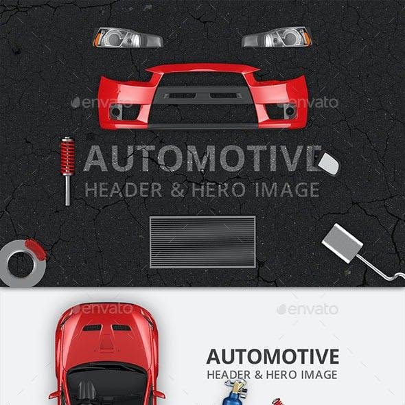 Automotive Hero Image and Header Mockup