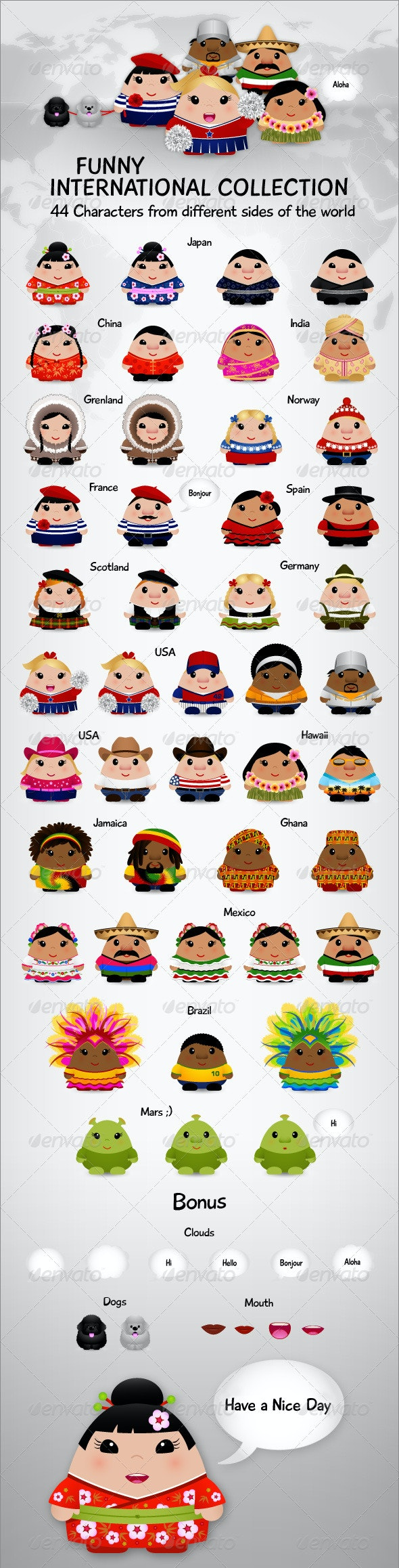 International Collection - Characters Vectors