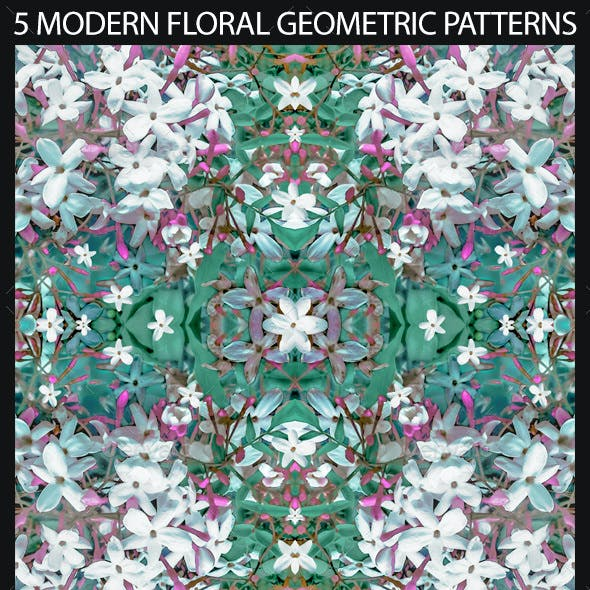 5 Modern Decorative Floral Geometric Patterns
