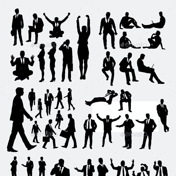 100 More Business Silhouettes