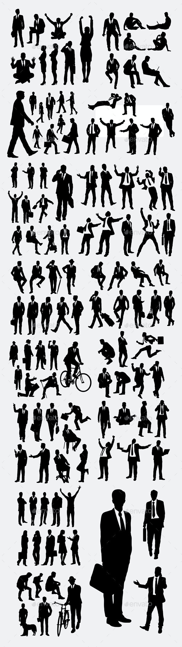 100 More Business Silhouettes - Business Conceptual