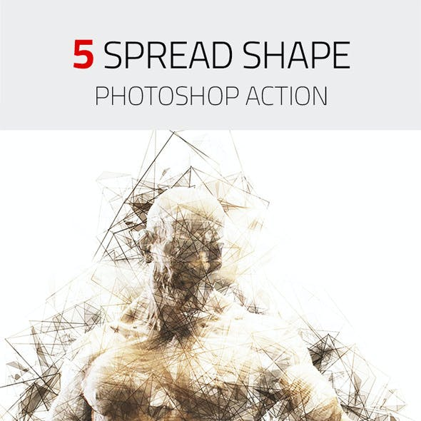 5 Spread Shape Photoshop Action