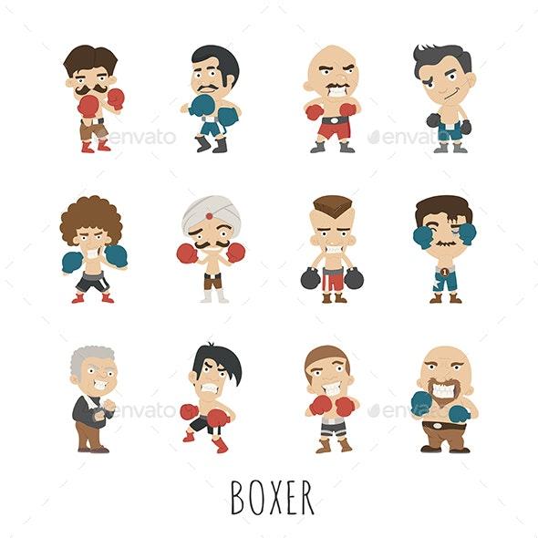 Boxing Character - Sports/Activity Conceptual