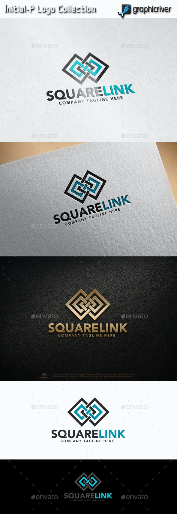 Square Link - Infinity Square - Abstract Logo Templates