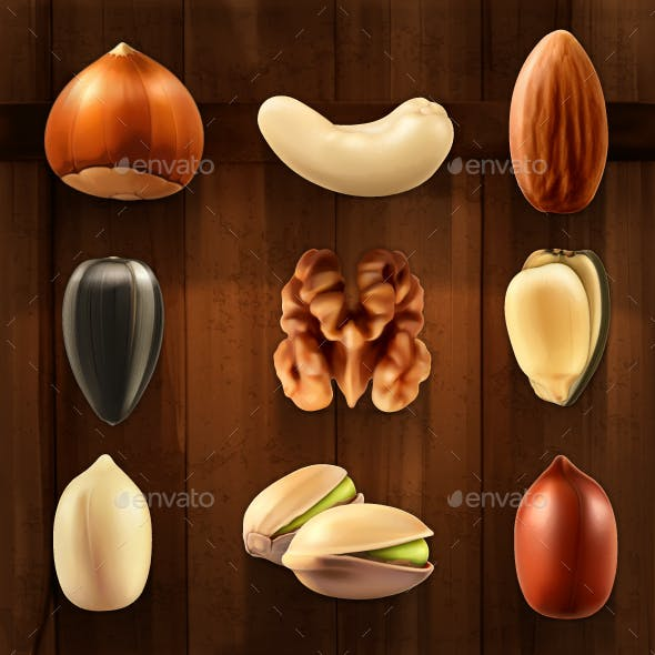Nuts Icons