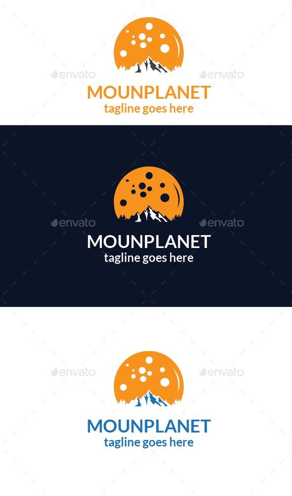 Mountain planet Logo - Vector Abstract