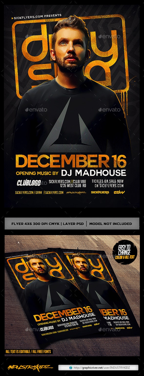 Club Dj Flyer PSD - Clubs & Parties Events