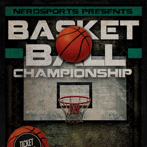 Basketball Championships Sports Flyer