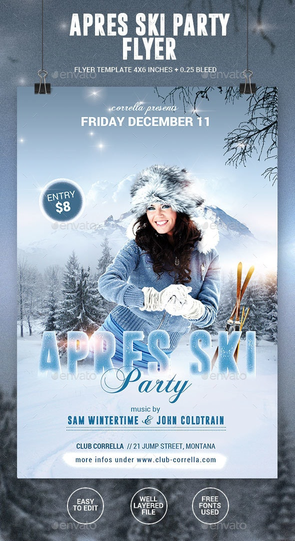 Apres Ski / Winter Party Flyer - Events Flyers
