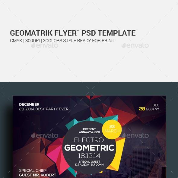 Geometric City Flyer Psd Template