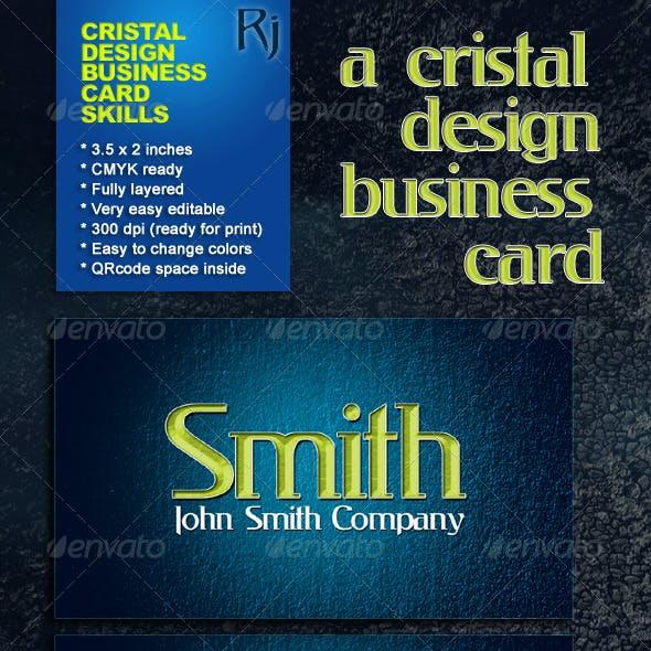 Cristal Design Business Card