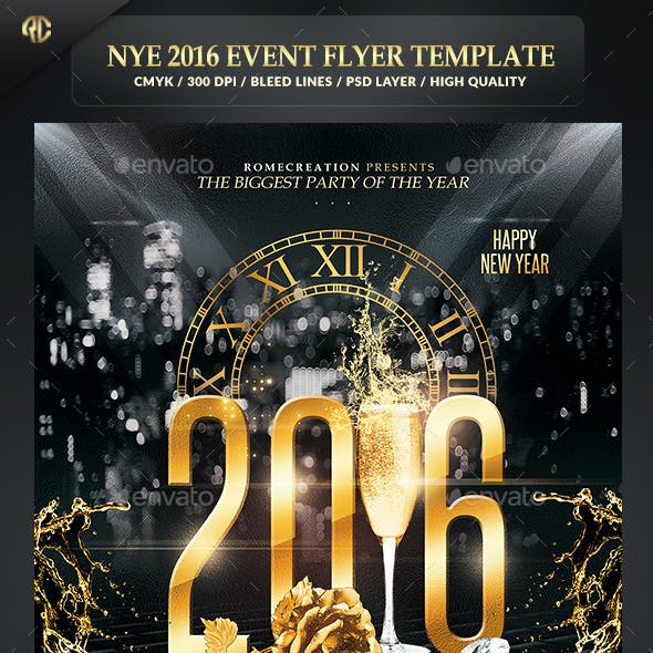New Year Event 2016 | Psd Flyer Template