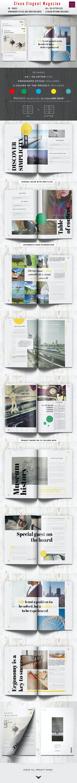 Clean Minimal Elegant Magazine - Magazines Print Templates