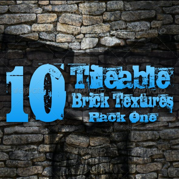 10 Tileable Brick Textures - Pack One