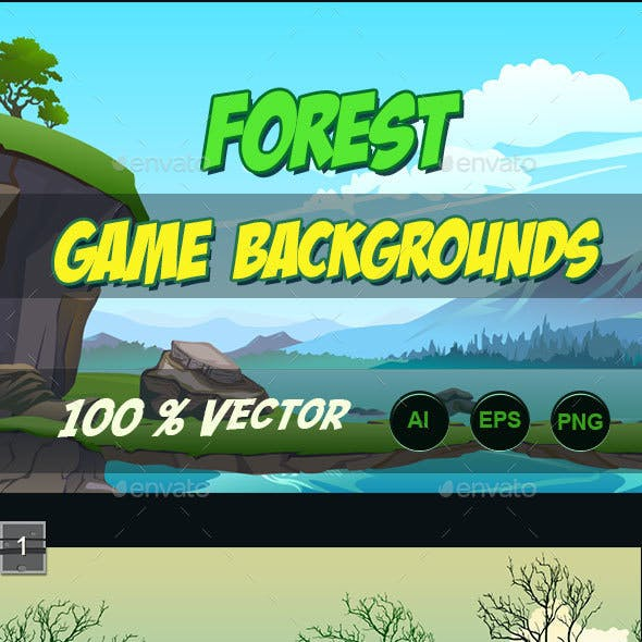 5 Forest Game Background
