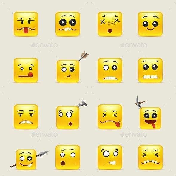 Crazy Square Smiles