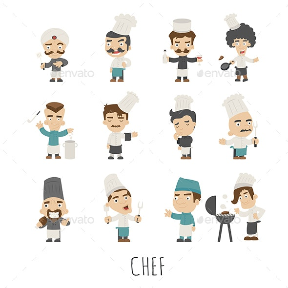 Chef Characters - People Characters