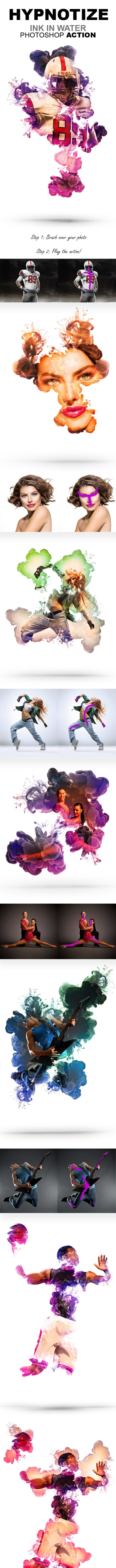 Hypnotize - Ink in Water Photoshop Action - Photo Effects Actions
