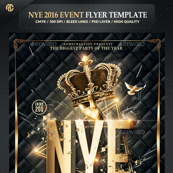 New Year Party | Classy Flyer Template